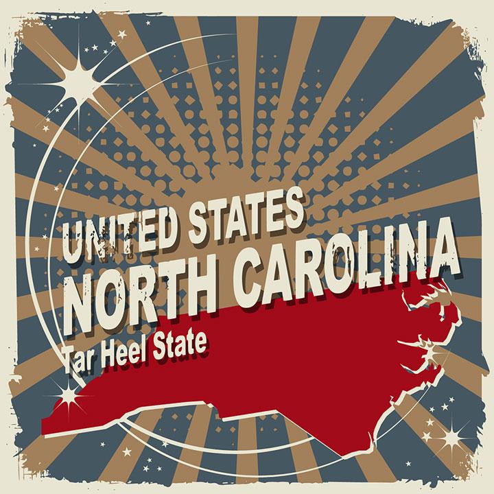 abstract north carolina map