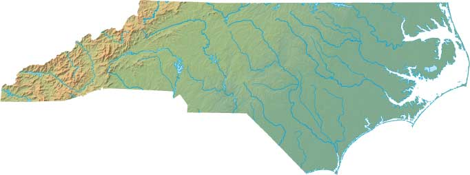 North Carolina relief map